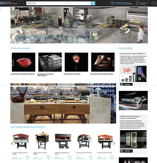 E commerce magazin online for Creare design