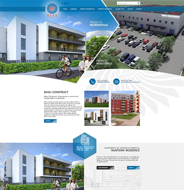 Website development for real estate developer