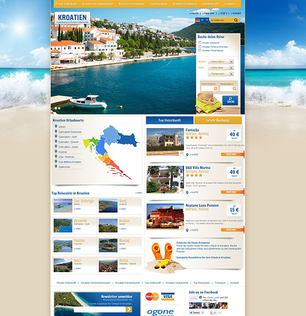 International tourism agency website design  78e9d3c53ab