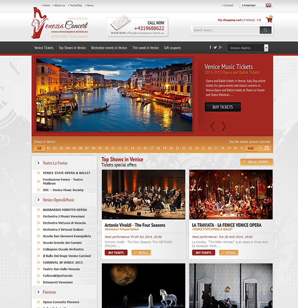 Online booking website design