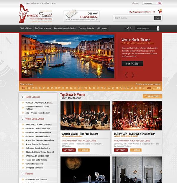 Online booking website design