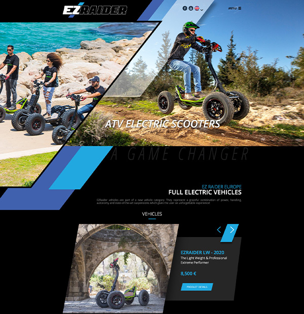 electric vehicles website design