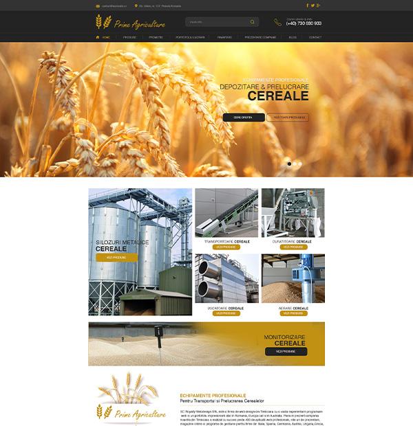 Agricultural website development