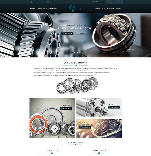 Auto parts eshop design