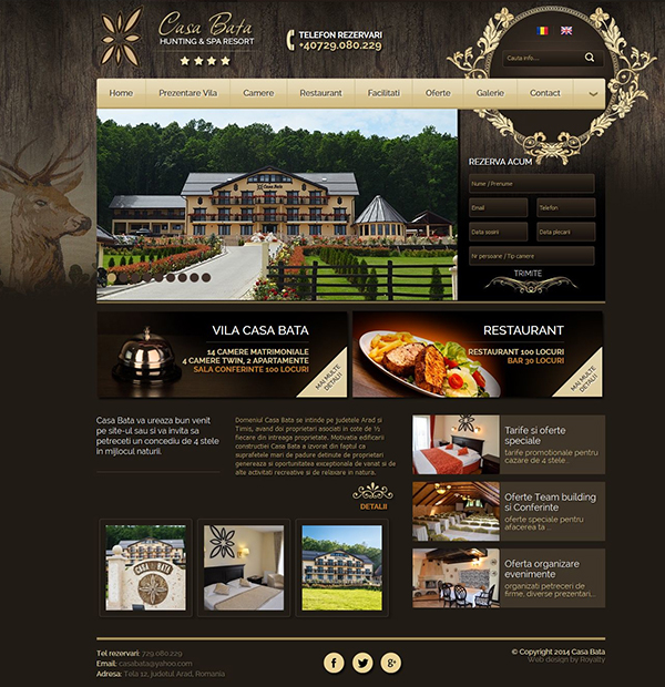Web design for villas and accomodations