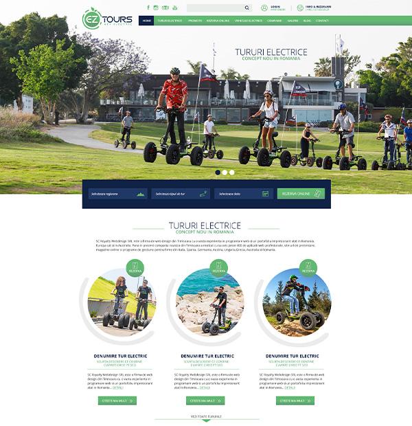 Create website for travel agency