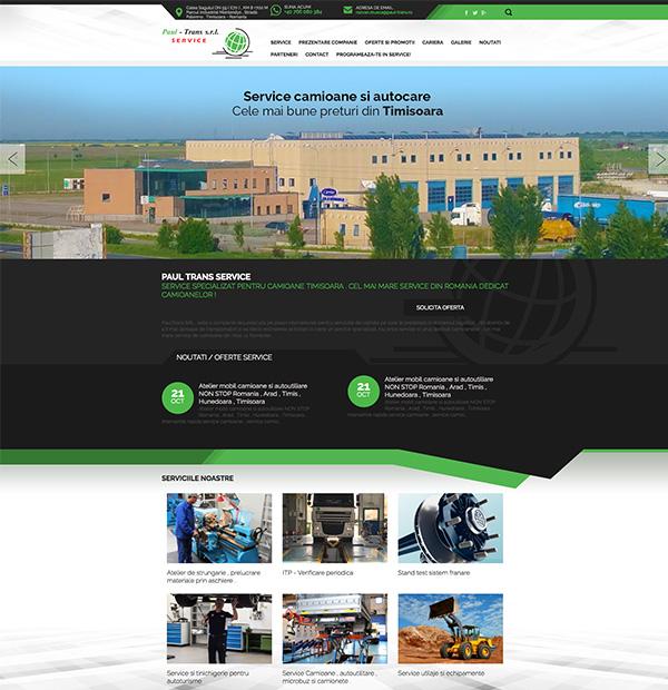 Web site design for truck service
