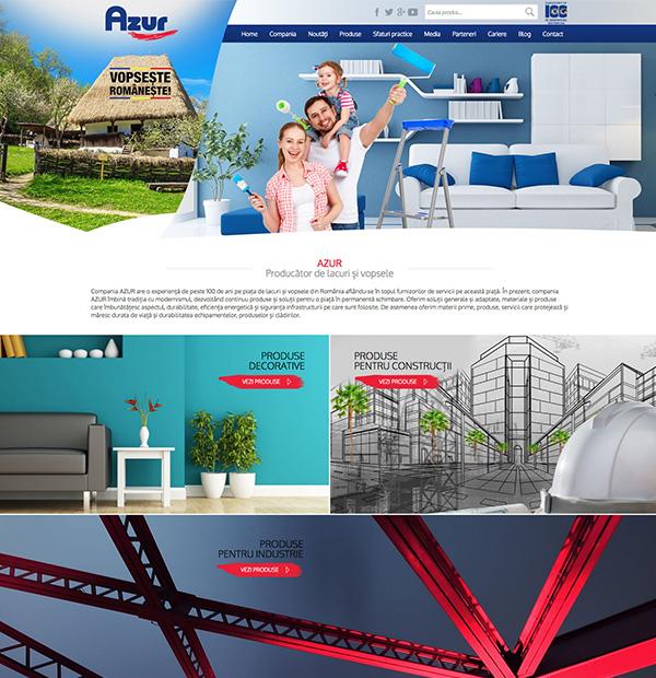 Website design for AZUR