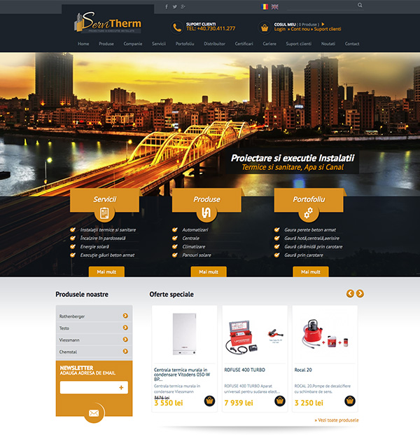 Installation company website design