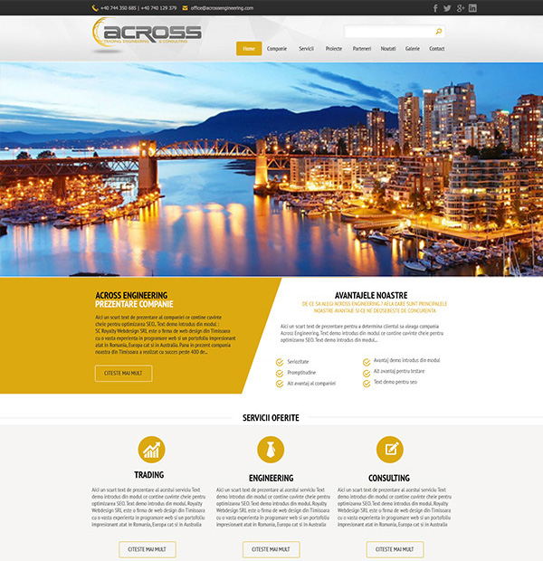 trading and consulting company website design