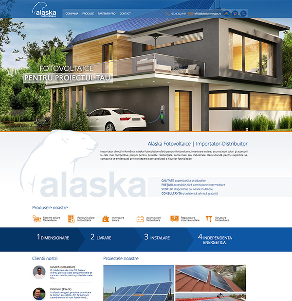 photovoltaic systems website design