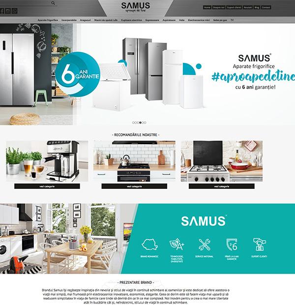 Home appliances website design