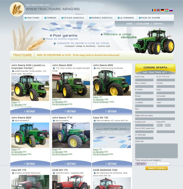 Tractors onlineshop design