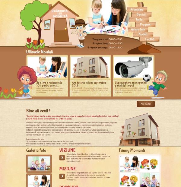 Business presentation website development