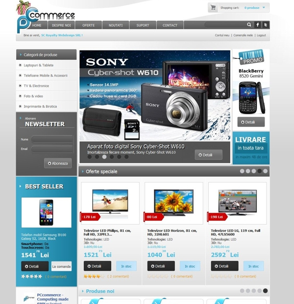 Computers onlinestore development
