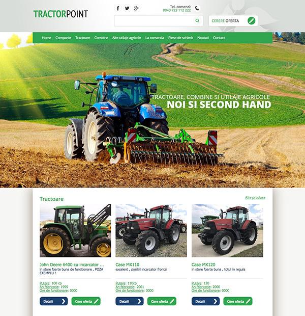 tractors presentation website