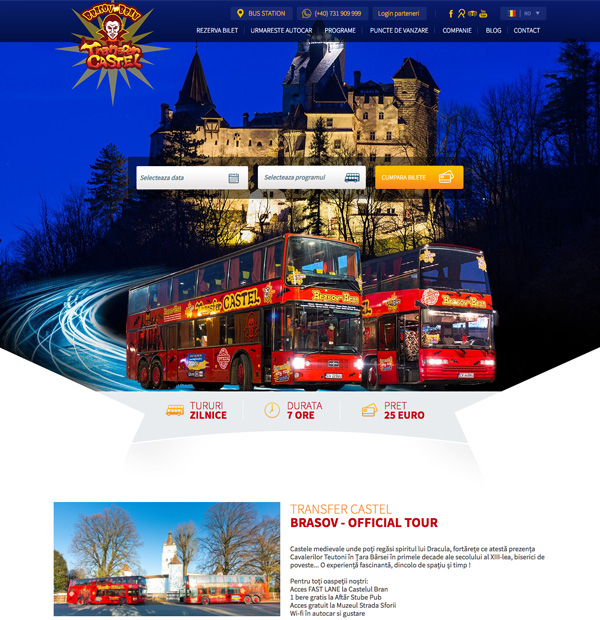 bus tickets website design