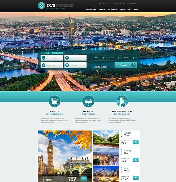 Creare site ce pune in vanzare bilete de autocar for Creare design