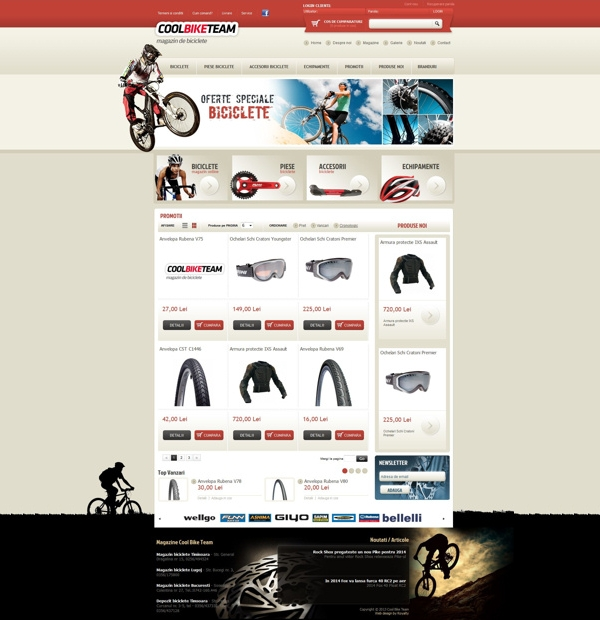 Bike online shops design