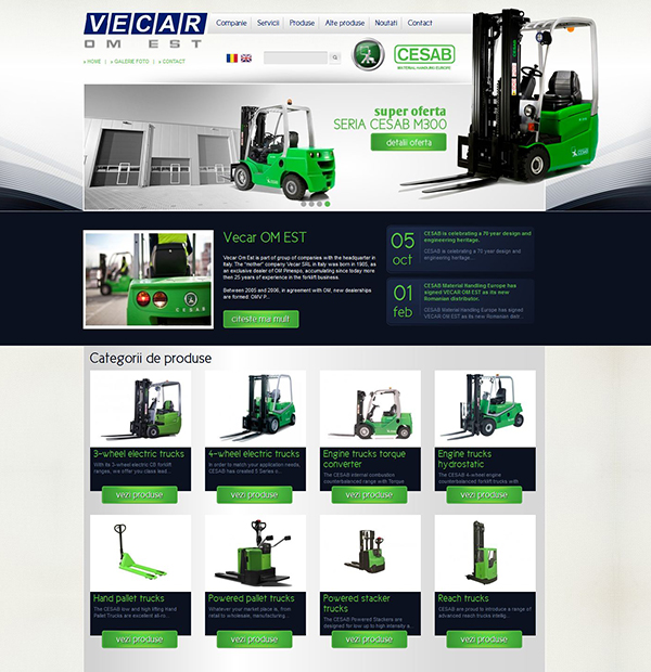 Forklift onlineshop development