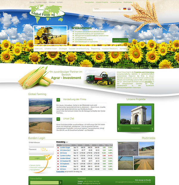 Best agriculture website design