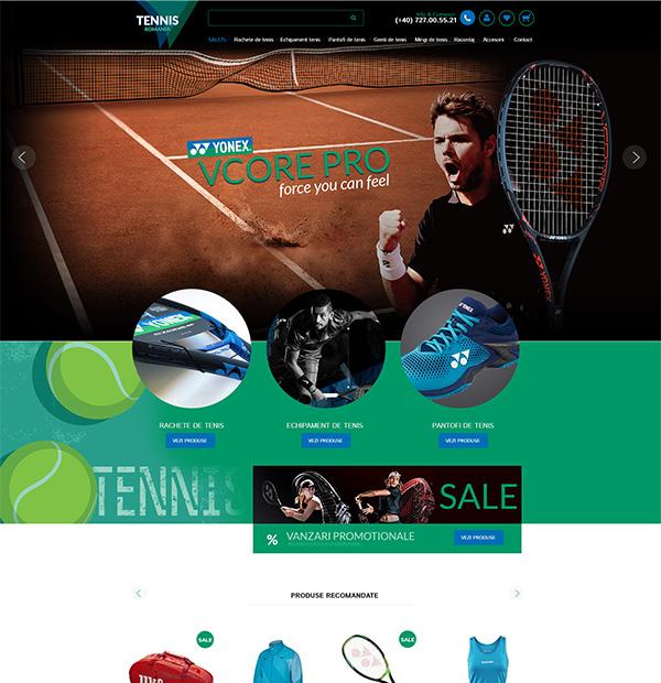 Tennis eshop development