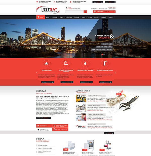 Website design for  installations companies