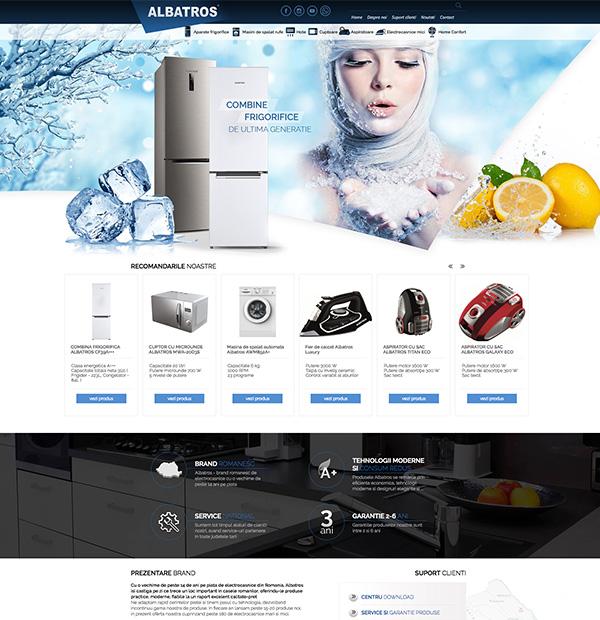 website design for producer of home appliances