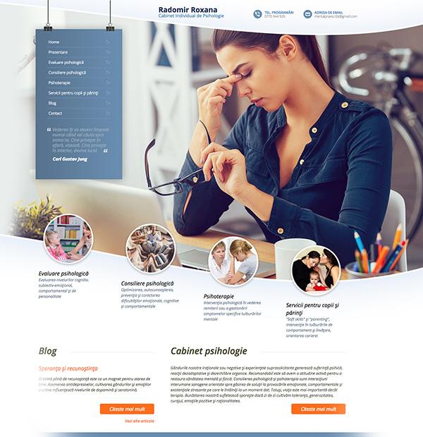 psychology clinic website design