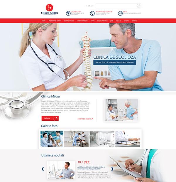 realizare site clinica