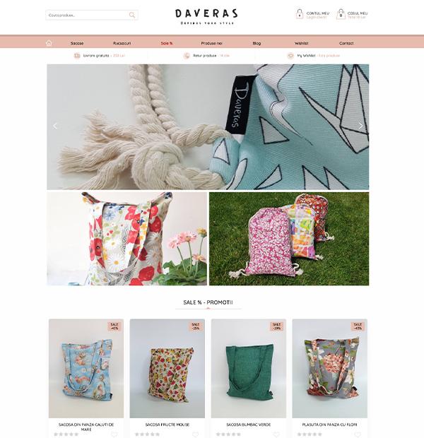Textiles online shop design