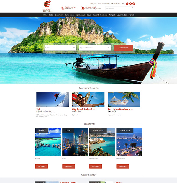 Travel Agency Website >> Travel Website Development Travel Offers Website Design