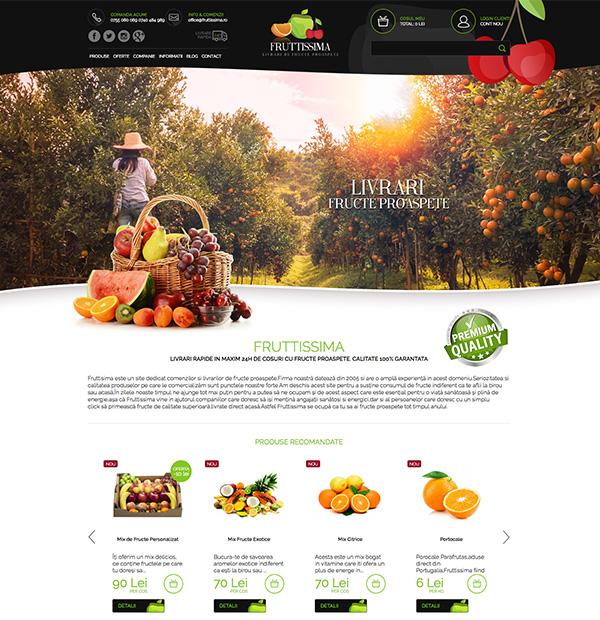 Design eshop cosuri cu fructe