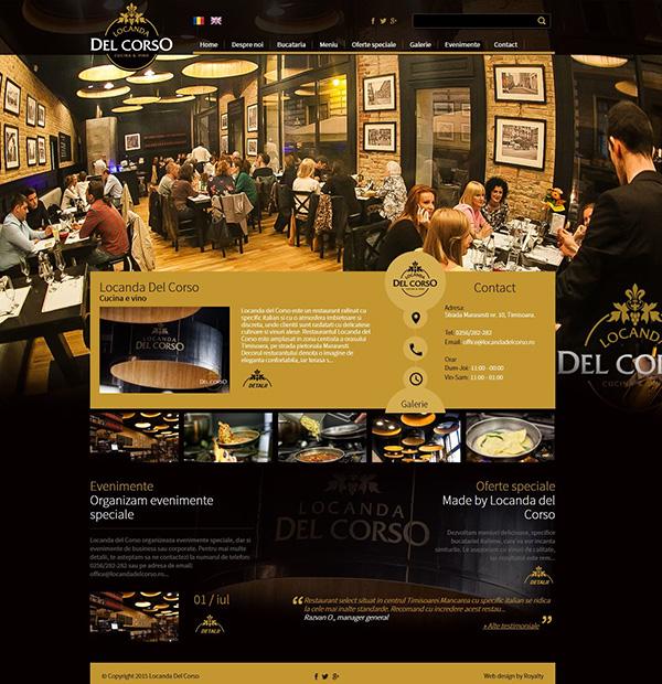 Web design for famous restaurants